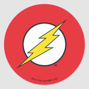 Justice League Action | Flash Lightning Bolt Logo Classic Round Sticker