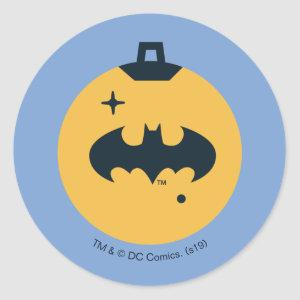 Justice League Batman Holiday Bauble Classic Round Sticker