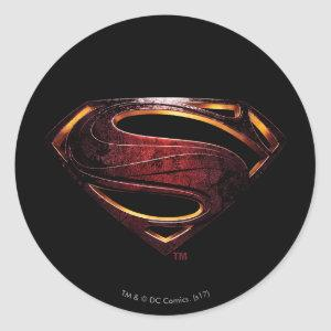 Justice League | Metallic Superman Symbol Classic Round Sticker