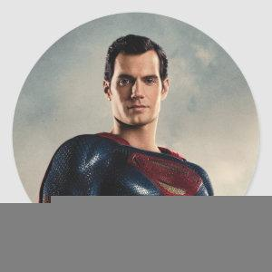 Justice League | Superman On Battlefield Classic Round Sticker