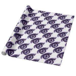 Keeping an Eye Out - Big Brother (purple) Wrapping Paper