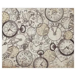 KEEPING TIME VINTAGE CLOCKS AND WATCHES DECOUPAGE WRAPPING PAPER