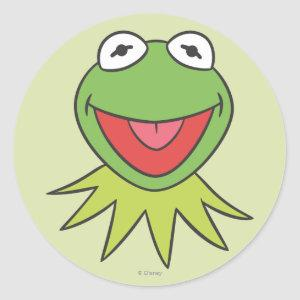 Kermit the Frog Cartoon Head Classic Round Sticker