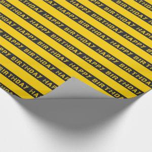 Kids Construction Happy Birthday Wrapping Paper
