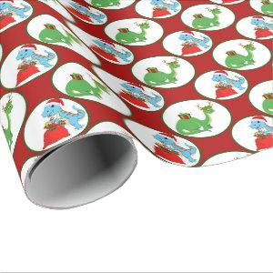 Kids dinosaur party party wrap wrapping paper