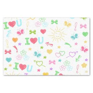 Kids Drawings Tissue Paper