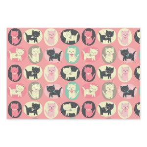 Kitty Cat Meow Pattern Wrapping Paper Sheets