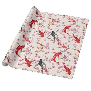 Koi Fish Wrapping Paper