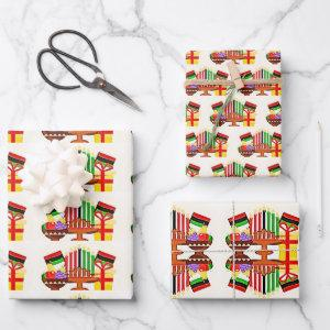 Kwanzaa Table Painting Wrapping Paper Sheets