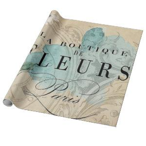 La Boutique Bird Decoupage Sheet Wrapping Paper