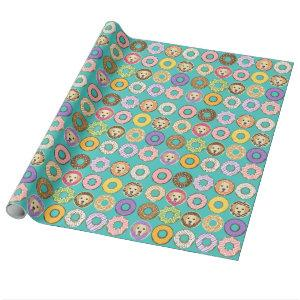 Labrador Retriever and Donuts Wrapping Paper