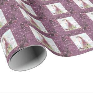 Lady Elf and sparkling stars Wrapping Paper