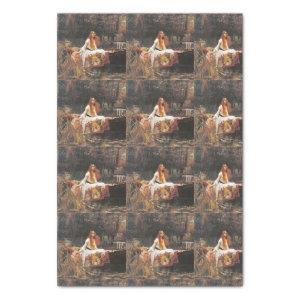 LADY OF SHALOTT BY WATERHOUSE TILE VERSION TISSUE PAPER