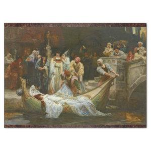 LADY OF SHALOTT VICTORIAN PAINTING TISSUE PAPER