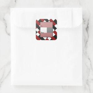 Ladybug Color Blocks Square Sticker