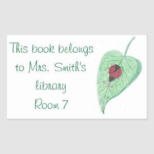 Ladybug teacher library stickers