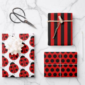 Ladybug Wrapping Paper Sheet Set