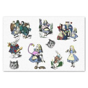 Large Alice in Wonderland Classic decoupage craft Tissue Paper