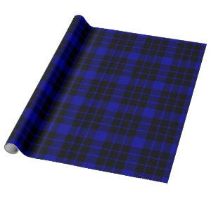 Large Black and Blue Plaid Wrapping Paper