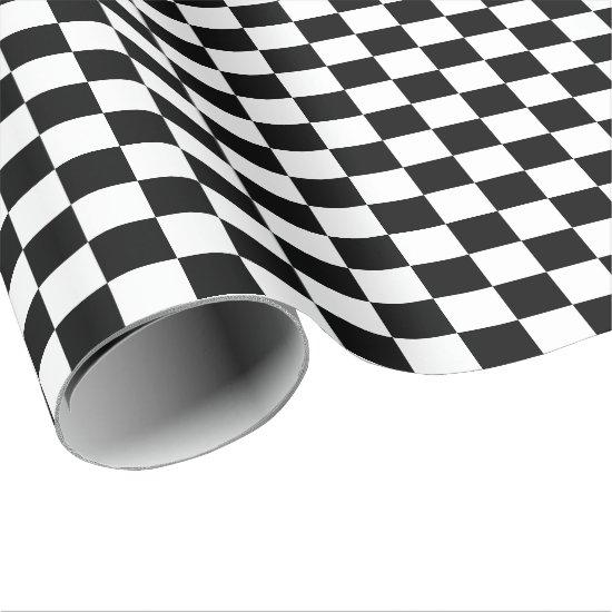 Large Black and White Checks Wrapping Paper