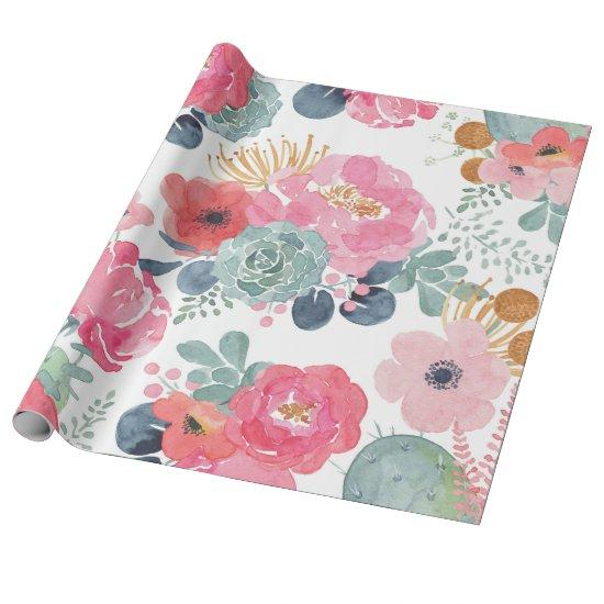 Large Floral Wrapping Paper