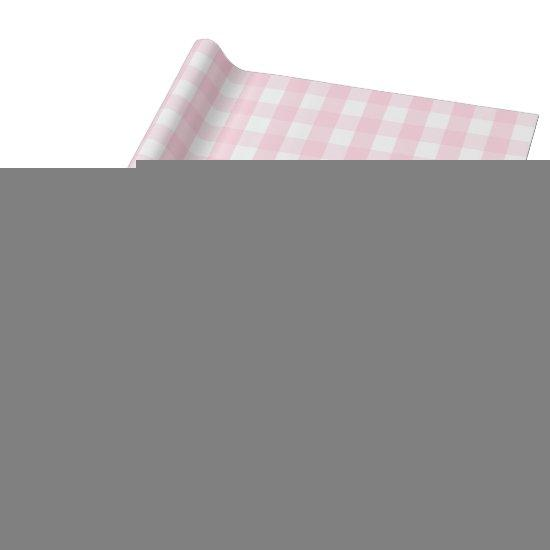 Large Light Pink and White Gingham Wrapping Paper