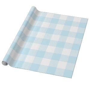 Large Pastel Blue and White Gingham