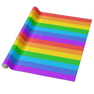 Large Rainbow Stripes Wrapping Paper