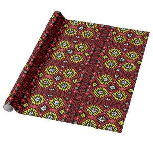 Latvian ethnographic design wrapping paper