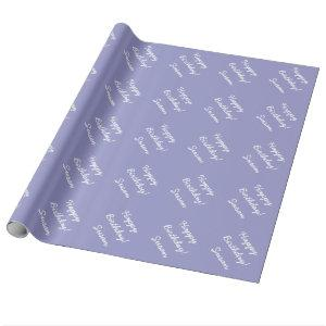 Lavender purple wrapping paper | Personalizable