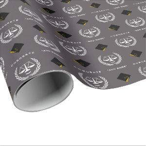 Law School Graduation Gift Wrapping Paper