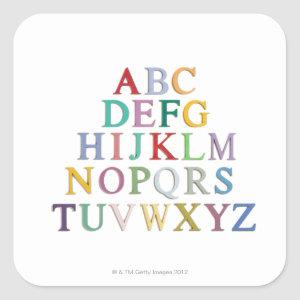 learning, letters, alphabet square sticker