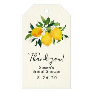 Lemon Bridal Shower Gift Tag, Thank you Gift Tags