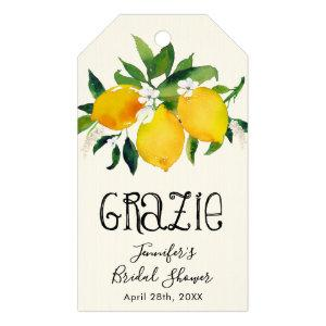 Lemon Bridal Shower, Grazie Gift Tags