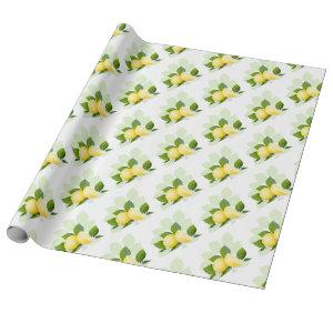Lemon Citrus Fruit Botanical Wrapping Paper