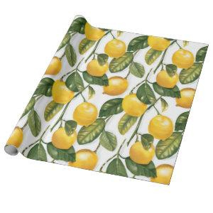Lemons Pattern. Wrapping Paper
