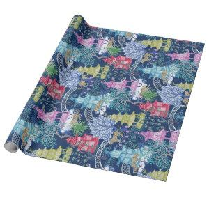 Leopard Party in the Pagoda Forest Dark Wrapping Paper