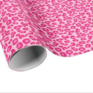 Leopard Print in Pastel Pink, Hot Pink and Fuchsia Wrapping Paper