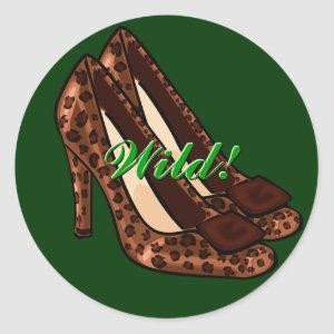 Leopard-Print Shoes Stickers
