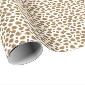 Leopard Print - Taupe Tan and White Wrapping Paper