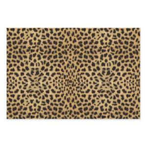 Leopard Spot Pattern Print Wrapping Paper Sheets