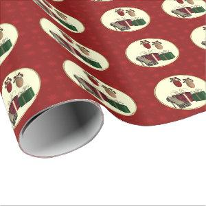 Leopard Stiletto holiday gifts Wrapping Paper