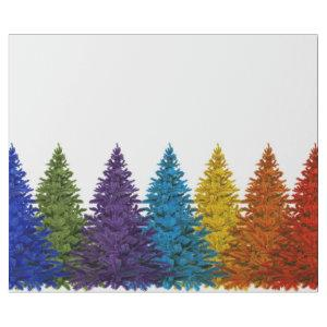 Lesbian Gay Pride Rainbow Flag Christmas Tree Wrapping Paper