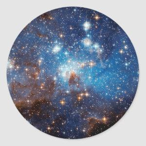 LH 95 Star Forming Region - Hubble Space Photo Classic Round Sticker