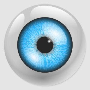 Light Blue Eyeball Classic Round Sticker