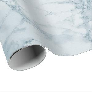 Light Blue Marble Texture Look Wrapping Paper