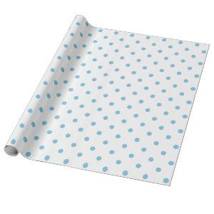 Light Blue Polka Dot on White Large Space Wrapping Paper