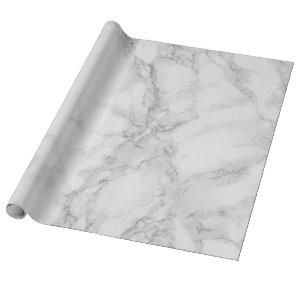 Light Gray Marble Texture Look Wrapping Paper