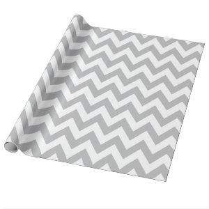 Light Grey and White Chevron Wrapping Paper