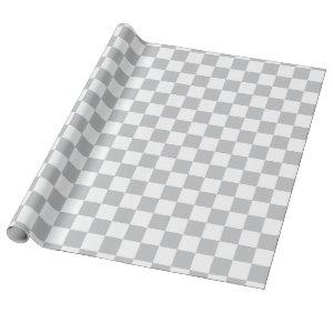 Light Grey Checkerboard Pattern Wrapping Paper